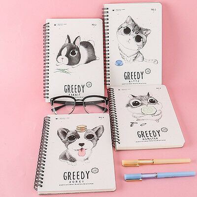 Portable Cute Cartoon Kraft Paper Note Book Memo Diary Notebook Exercise Book