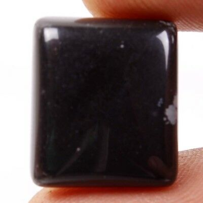16.60 Ct. Natural Black Obsidian Cushion Cabochon Gorgeous Loose Gemstones