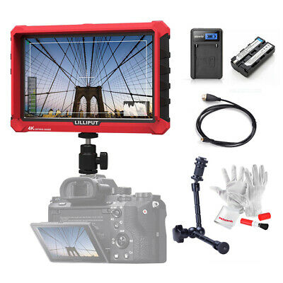 Lilliput A7S 7 Inch 1920x1200 IPS DSLR Camera Monitor 4K HD+ Magic Arm+ Battery