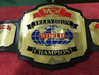 Wcw Television Championship Replica Belt In Thick Brass Plates!!