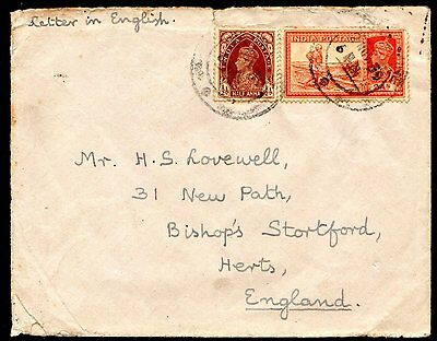 India 1939 Stationary Cover to England.