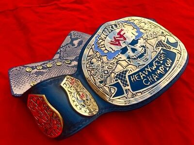 Wwe Stone Cold Smoking Skull Championship Replica Belt In Thick Brass Plates!!