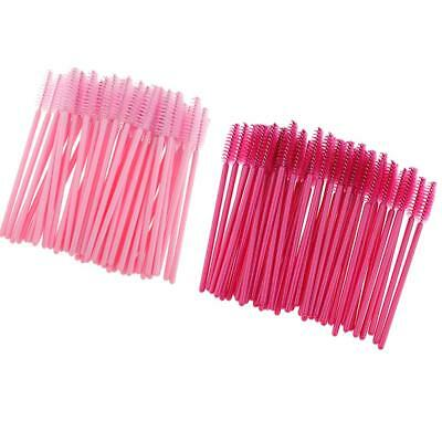 100pcs Disposable Eyelash Mascara Wands Applicator Makeup Brush Spooler Tool