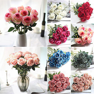 Wholesale Real Touch Latex Rose Flowers For wedding & Home Design Bouquet Decor