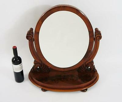 Large Victorian Mahogany  oval, dressing table or swing/toilet  mirror