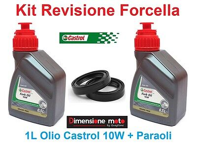 120 -Kit Castrol Fork Oil 10W +Paraoli x Forcella BMW HP2 1200 Megamoto dal 2006