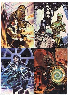 Star Wars Finest Matrix - Complete Chase Card Set (1-4) 1996 @ Near Mint