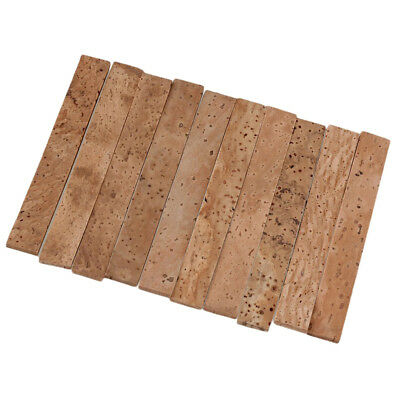 Set of 10 Natural Saxophone Neck Cork Sheet for Bb Clarinet Accs Wood Wind
