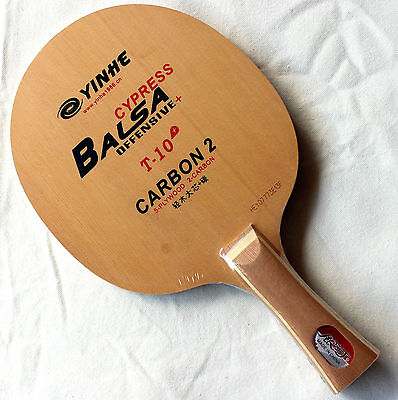 YinHe / Galaxy T-10+ Table Tennis Blade: Balsa Cypress Carbon2, OFF+, New