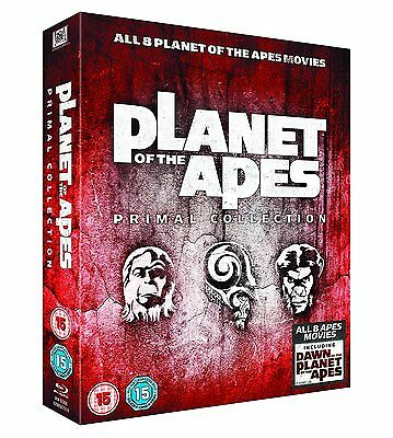 Planet Of The Apes Primal Collection 1-8 Blu-ray Box Set All 8 Movies Brand New.