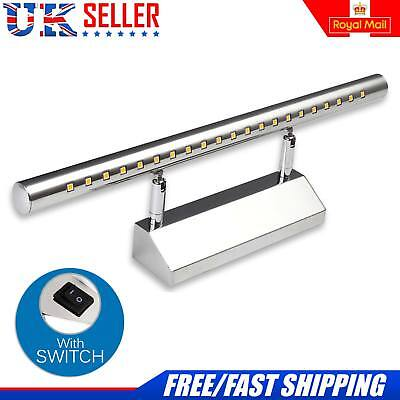 7W White Mirror Wall Light 5050 21 SMD LED Bathroom Picture Front Lighting Lamp
