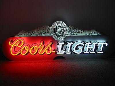 Coors Light   Huge      Neon Sign