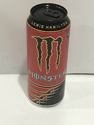 Monster Energy Drink Lewis Hamilton Can. One Full Single Collectors Can Lot