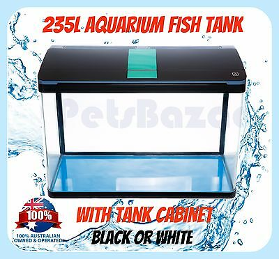 FISH AQUARIUM TANK - 235L with CABINET SMD LED Light Pump Package Glass