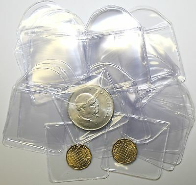 """Plastic Coin Envelopes or Holders 2"""" x 2"""" With Tuck in Flap 10 to 1000 Quantity"""