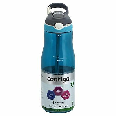 Contigo AUTOSPOUT Ashland 32oz Plastic Water Bottle with Flip Straw Monaco Blue