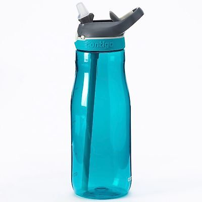 Contigo AUTOSPOUT Ashland 32oz Plastic Water Bottle with Flip Straw Scuba Blue