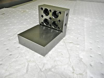 "Precision Angle Plate 4"" x 3"" x 3"" x 1"" Tapping Holes in1 Side APS-334-SO"