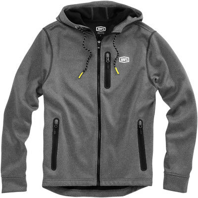 100% Mens Charcoal Heather Grey Council Bonded Softshell Jacket