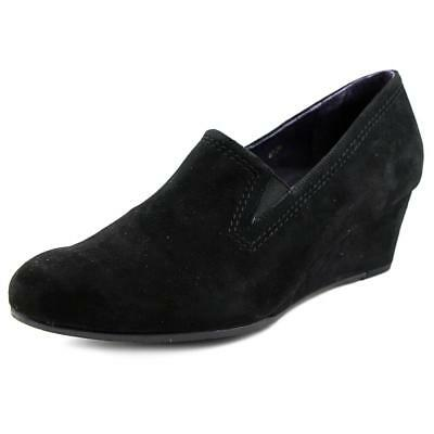 Vaneli Lara   Open Toe Suede  Wedge Heel