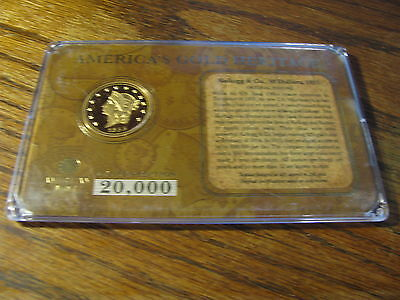 America's Gold Heritage $50 1855 Medal American Mint  Lot D