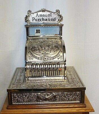 1909 Rare National Cash Register mod 321 Nickel Plated Restored Dolphin pattern