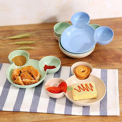 Baby Bowl Cartoon Mouse Lunch Box Kid Infant Rice Feeding Dish Plate Tableware