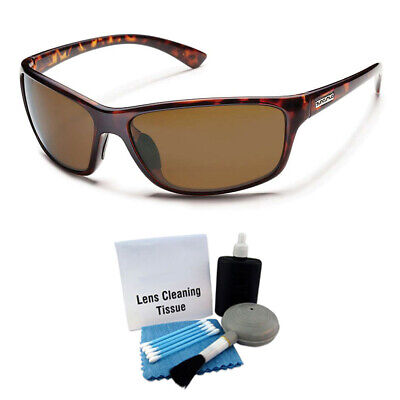 6b2544405f Suncloud Sentry Polarized Sunglass  Tortoise  Brown Polycarbonate +  Cleaning Kit