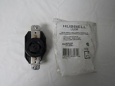 Hubbell L520R Locking Receptical 20A 125Vac 2 Pole 3 Wire Grounding