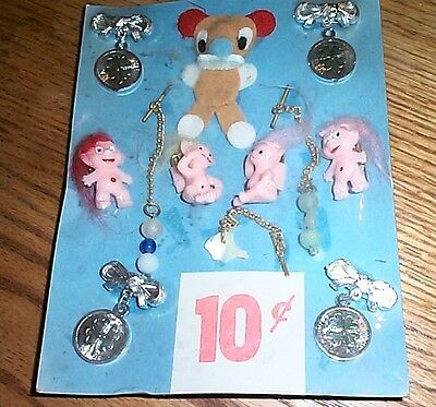 Vintage display card 10c charms and toys  FREE SHIPPING #C1