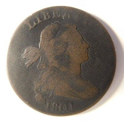 1801 Draped Bust Cent S-214 R-3