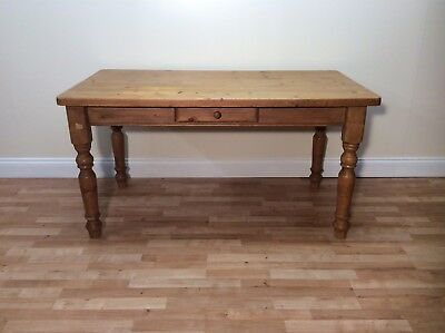 Traditional Vintage Country Style Pine Kitchen Table