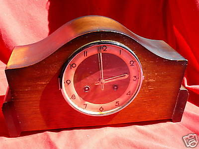 FRANZE HERMIE FS MANTEL SHELF CLOCK Art Deco Style MAHOGANY