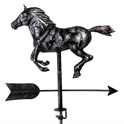 Hand Crafted 3D  Patina Finish Horse  Weathervane with Free Roof Mounting