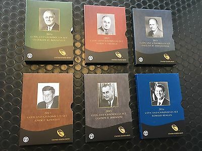 2014/2015/2016 Chronicle Sets Roosevelt Truman Eisenhower Kennedy Johnson Reagan