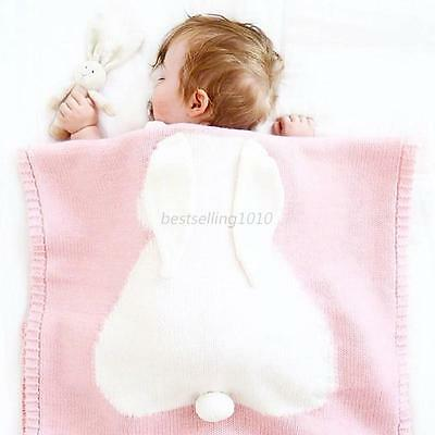 Newborn Baby Ultra-Soft Blankets Rabbit Kid Cotton Bedding Cover Bunny Warm Bed