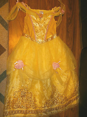Disney Store Belle Beauty and the Beast Deluxe Costume  size 10