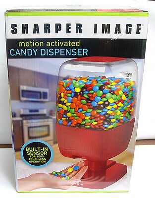 Sharper Image Motion Activated Candy Dispenser in Red - M&M's Peanuts Skittles