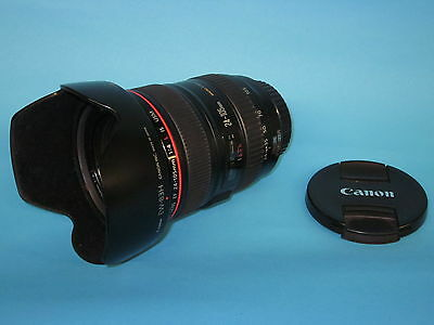 Used Canon EF 24-105mm f/4L IS USM Lens with Canon Hood & Pouch, 30 day warranty