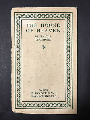 Vintage Book THE HOUND OF HEAVEN by Francis Thompson 1920s Poetry