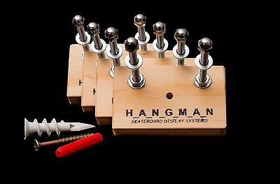 4 x Pine Hangman Skateboard Display Systems, Deck Wall Mount Hanger