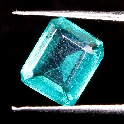 4.30 Ct. Hydro Green Treated Emerald Aaa Quality Faceted Octagon Fine Gemstones
