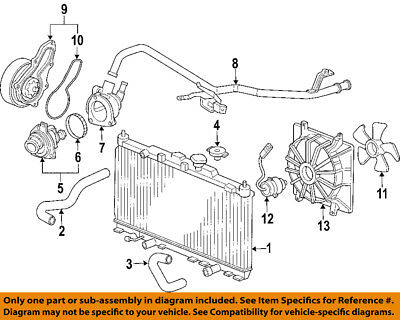 HONDA OEM-Engine Water Pump 19200RAAA01