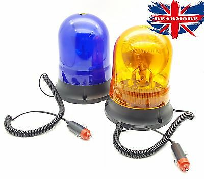 Revolving Blue Beacon Light 24V Magnetic Tractor Recovery Car Van Hazard Pickup