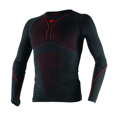 Dainese D-Core Thermo LS Black / Red Moto Motorcycle Tee Base Layer All Sizes