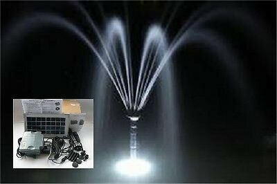 Solar Pond Fountain Pump 3.5W 300Lph Dry Run Safe Battery Backup Led Light Timer