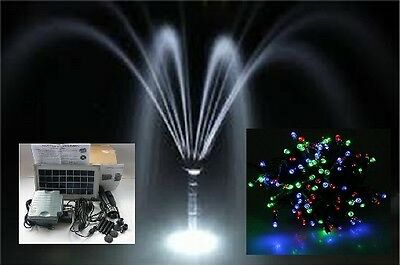 Solar Water Pump 3.5W 300Lph Dry Run Battery Backup Led Light + 100 Rgb Fairy L