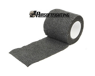 5CMx4.5M Camo Waterproof Wrap Hunting Camping Hiking Camouflage Stealth Tape BK