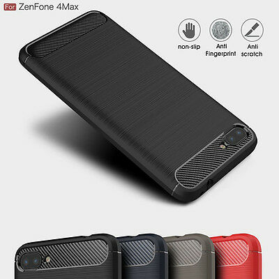 For Asus ZenFone 4 Max/Plus/Pro ZC554KL Slim Brushed Soft Rubber Skin Case Cover