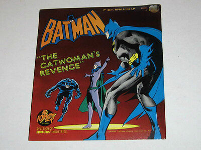 Batman 1975 Record. The Catwomen's Revenge. Power Records. Scarce. Superb !